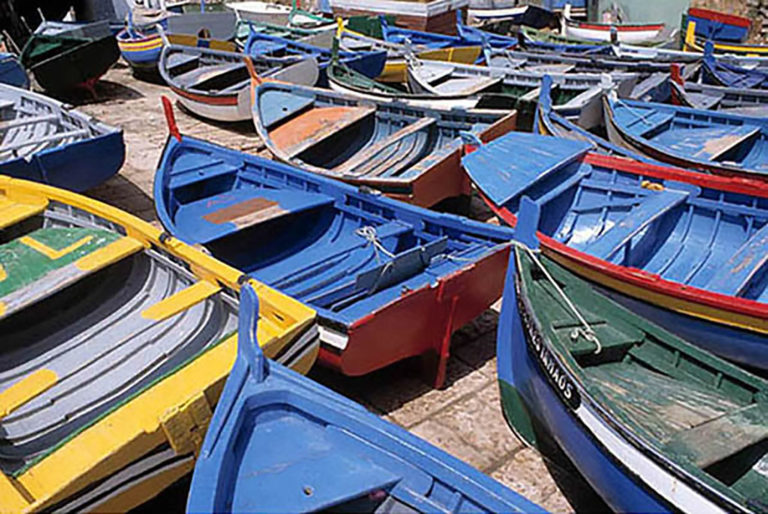 16GS-014 Colored Row Boats Port Dry Dock-2-