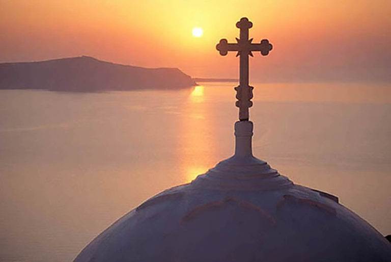 34GS-049 Santorini Sunset with cross-2-